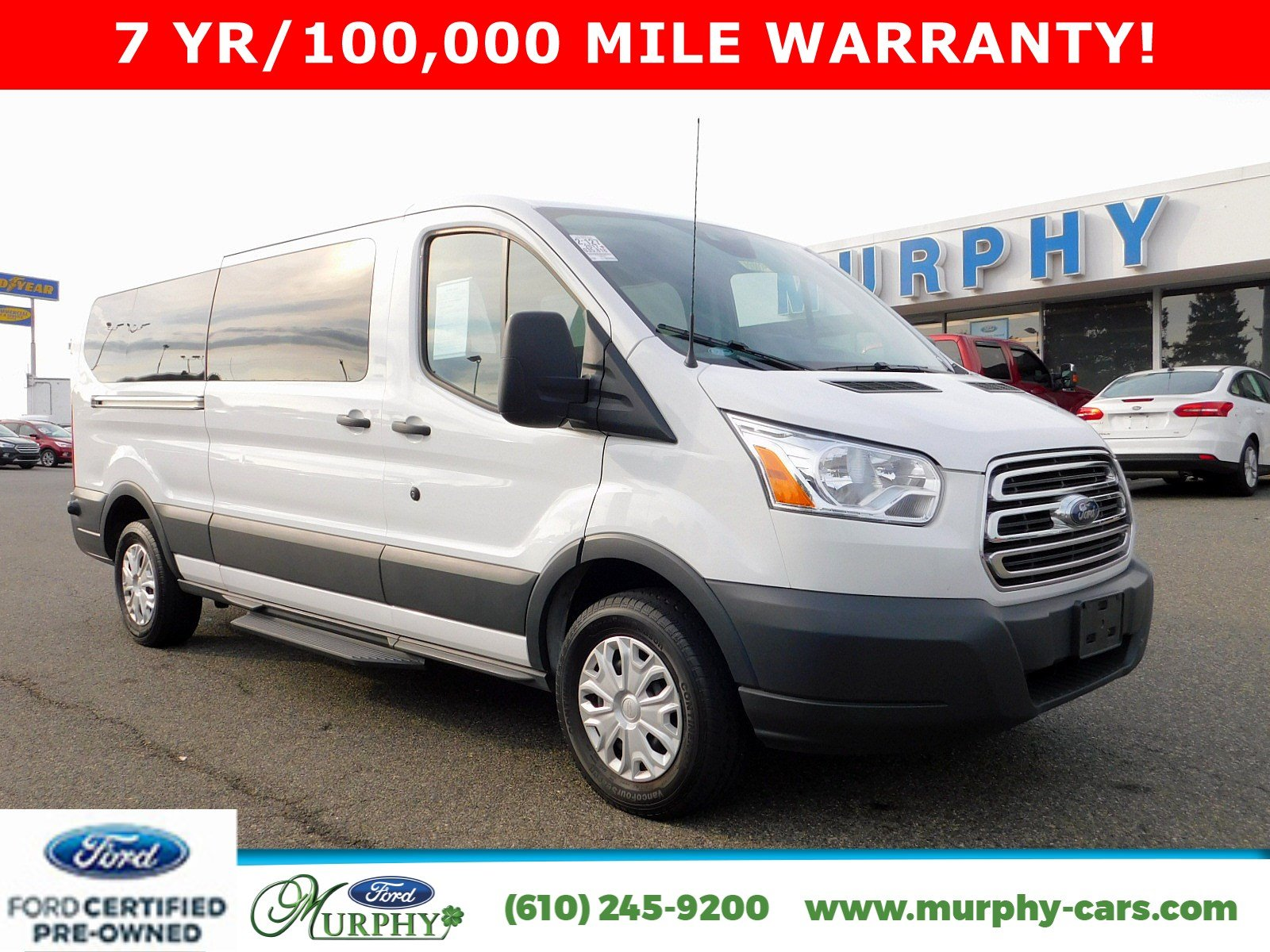 Certified pre owned 2017 ford transit wagon xlt 12 passenger